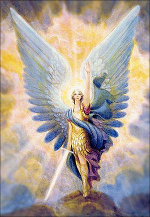 Schilderij van een mooie engel