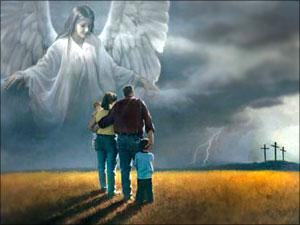engelen wijzen op Jezus Christus