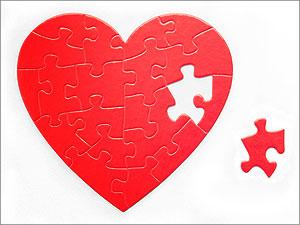 Gebroken hart, in stukjes