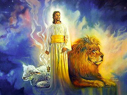 Jezus is lam van God en leeuw van Juda