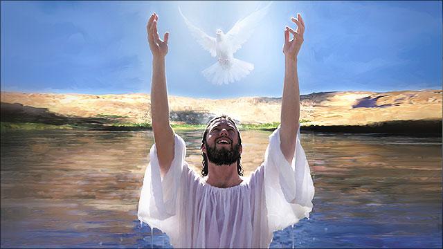 jezus liet zich dopen