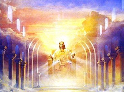 Jezus Christus op de troon