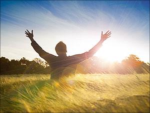Man in aanbidding