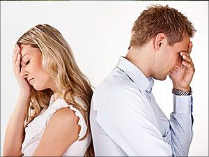 Een koppel ervaart de pijn van een scheiding