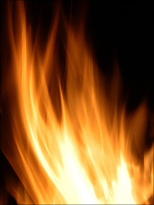 het vuur van de geest als een vlam