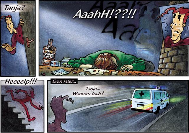 stripverhaal zelfmoord