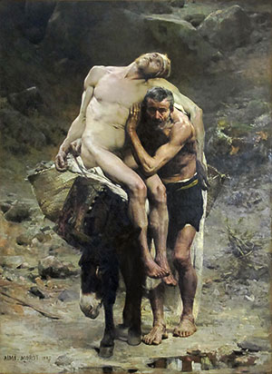 barmhartige samaritaan schilderij