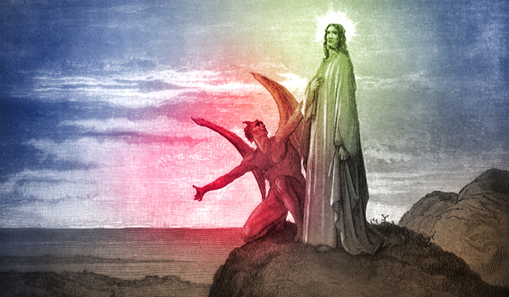 jezus satan woestijn