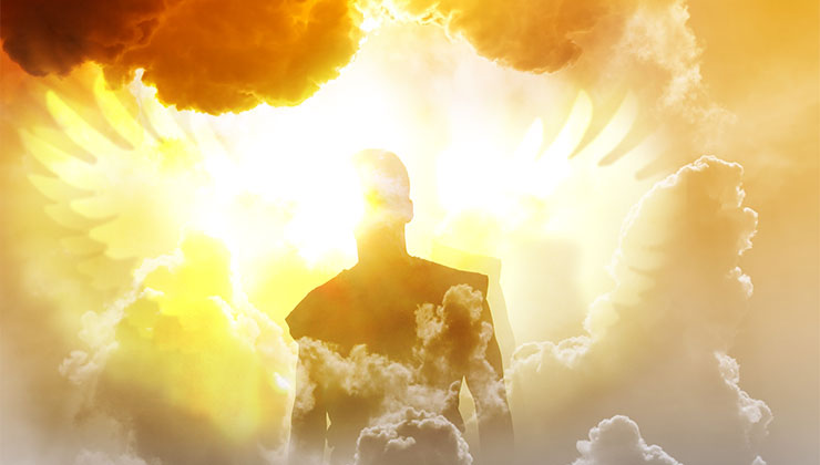 jezus engelen wolken