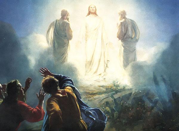 Jezus op de berg der verheerlijking