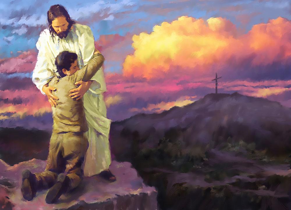 jezus omhelzing