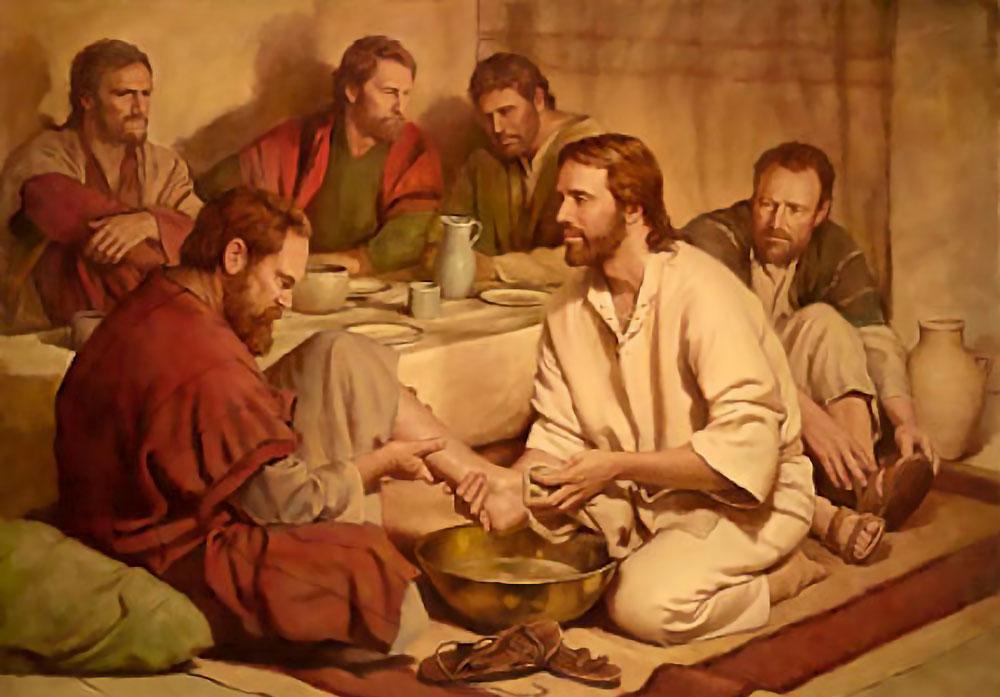 jezus wast voeten